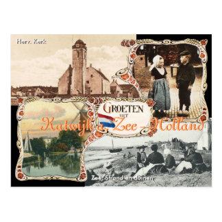 Vintage style Holland Postcard Katwijk aan Zee