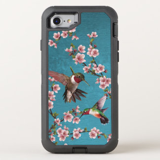 Vintage Style Hummingbirds & Blossoms OtterBox Defender iPhone 8/7 Case
