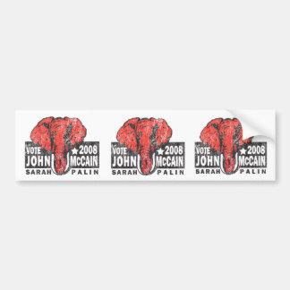Vintage Style John Mccain Presidential Bumper Stickers