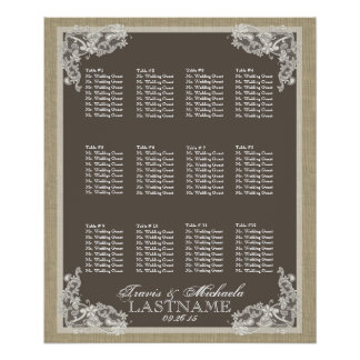 Vintage Style Lace Design Poster