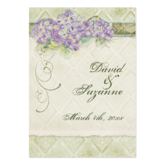 Vintage Style Lilac Hydrangea - Favor Gift Tags Business Card Templates