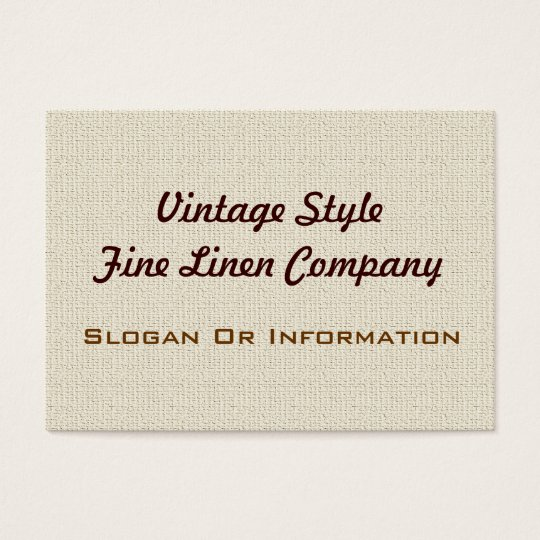 Vintage Style Linen Large Business Cards