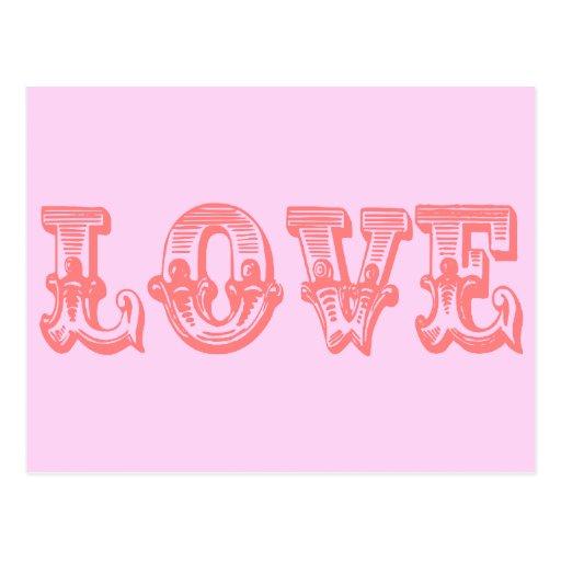 Vintage Style Love Post Card