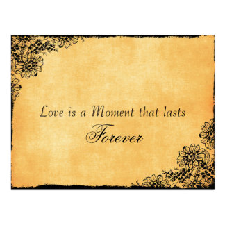 Vintage Style Love Quote Save the Date Postcard