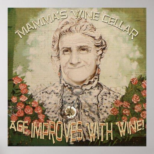 Vintage Style Mamma's Wine Poster!
