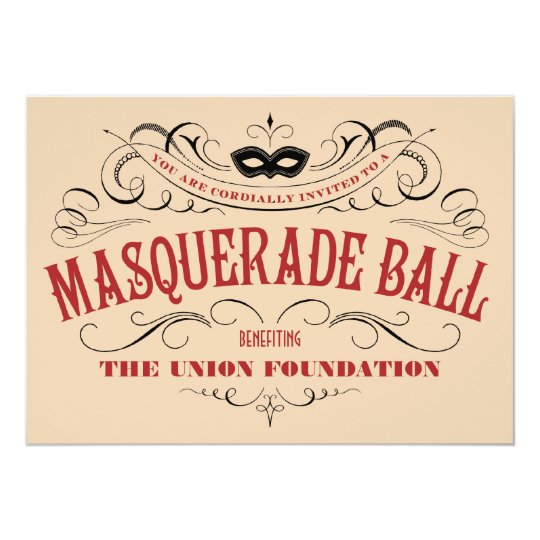 Vintage Style Masquerade Ball Invitations