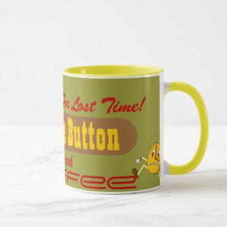 Vintage Style Mug Coffee Ad Snooze Button Brand