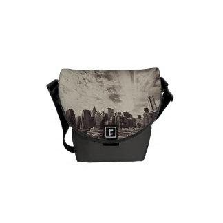 Vintage Style New York City Skyline Courier Bag