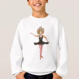 Vintage style painting of  Dancer in Black Tutu Sweatshirt
