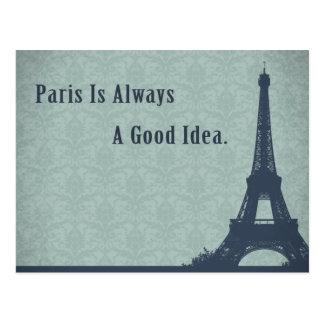 Vintage Style Paris Quote Postcard