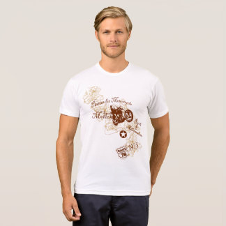 Vintage Style Passion For Motorcycle Design T-Shirt