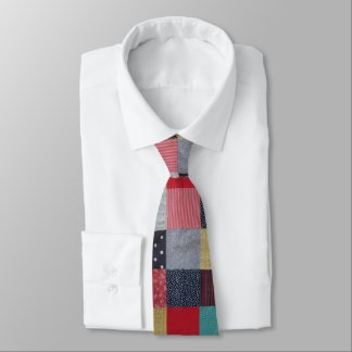 vintage style patchwork fabric design colorful tie
