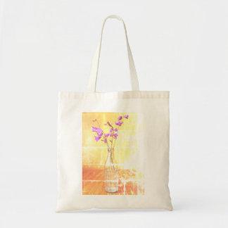 Vintage Style Purple Violet Tote Bag