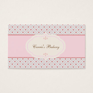 Vintage Style Romantic Frame Bakery Business Card
