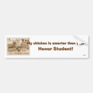 Vintage Style Rooster Photograph Bumper Sticker