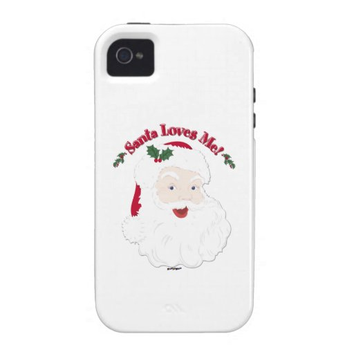 Vintage Style Santa Loves Me! iPhone 4/4S Cover