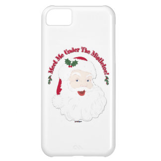 Vintage Style Santa Meet Me Under The Mistletoe! iPhone 5C Cover