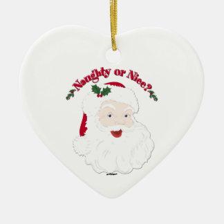 Vintage Style Santa Naughty or Nice? Christmas Ornament