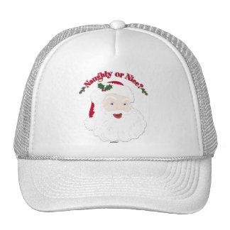 Vintage Style Santa Naughty or Nice? Trucker Hat