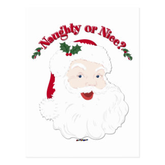 Vintage Style Santa Naughty or Nice? Postcard