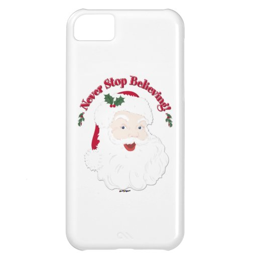 Vintage Style Santa Never Stop Believing iPhone 5C Cover