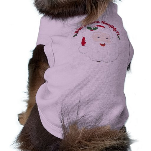 Vintage Style Santa Who's Been Naughty?! Doggie Shirt