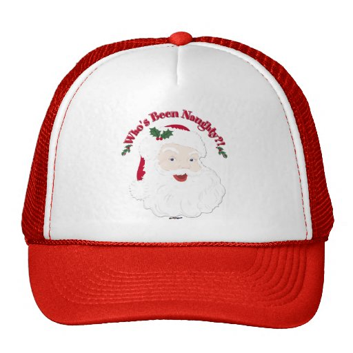 Vintage Style Santa Who's Been Naughty?! Hat