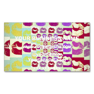 Vintage Style Sassy Lips Magnetic Business Cards