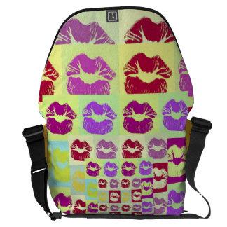 Vintage Style Sassy Lips Messenger Bags