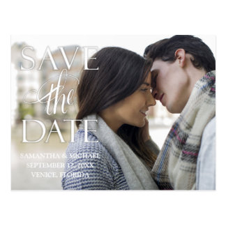 Vintage Style Save The Date Postcard