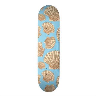 Vintage Style Seashell Pattern 21.3 Cm Mini Skateboard Deck