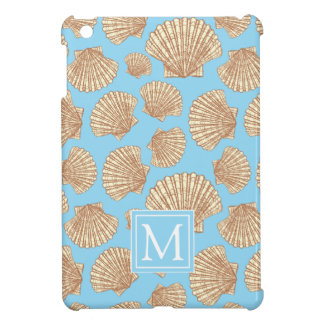 Vintage Style Seashell Pattern | Add Your Initial iPad Mini Case