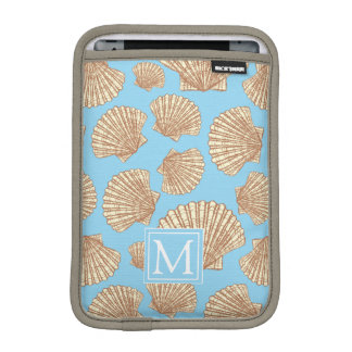 Vintage Style Seashell Pattern | Add Your Initial iPad Mini Sleeve