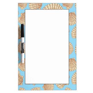 Vintage Style Seashell Pattern Dry Erase Board