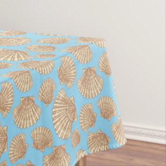 Vintage Style Seashell Pattern Tablecloth