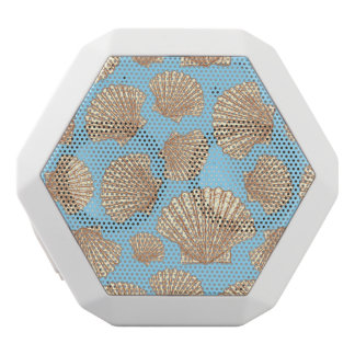 Vintage Style Seashell Pattern White Bluetooth Speaker