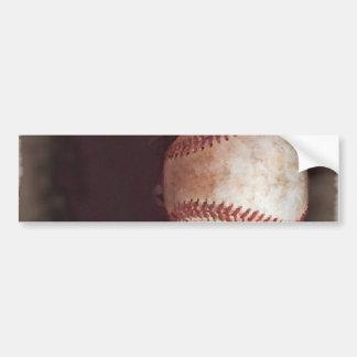 Vintage Style Sepia Baseball Artwork Bumper Sticker