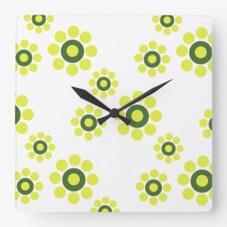 Vintage Style Spring Flowers Wall Clock