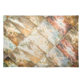 Vintage Style STAINED GLASS Tile Work Placemats