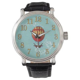 Vintage-Style Steampunk Hot Air Balloon Watch