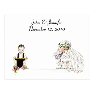 Vintage Style The Wedding Service~ Bride & Groom Postcard
