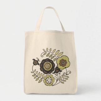 Vintage-Style Tote Grocery Tote Bag