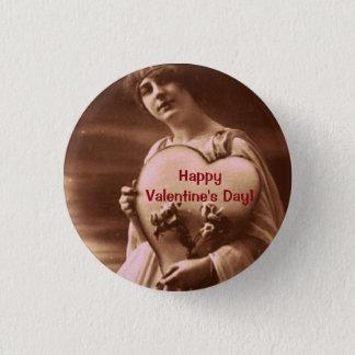 Vintage style Valentine's Day 3 Cm Round Badge