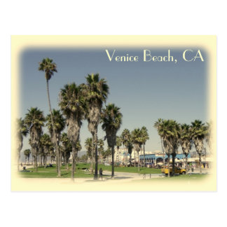 Vintage Style Venice Beach Postcard