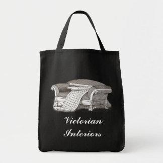Vintage Style Victorian Interiors Decorator Tote Bag