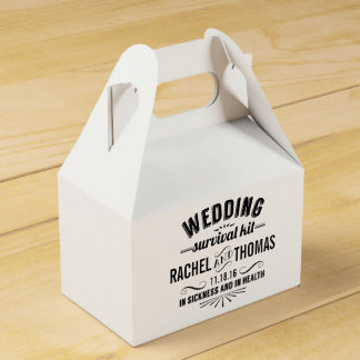 Vintage Style Wedding Survival Kit Favour Box