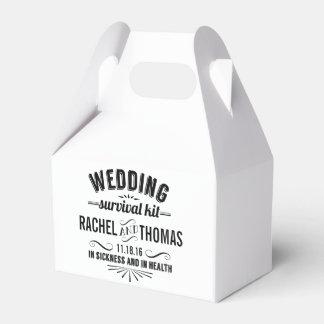 Vintage Style Wedding Survival Kit Wedding Favour Box