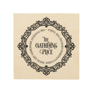 Vintage Style Wood Wall Art - The Gathering Place