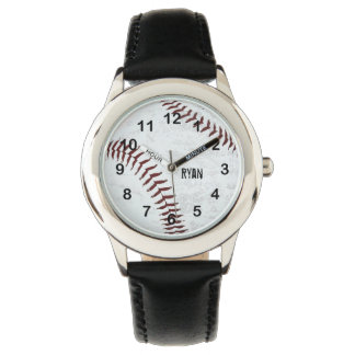 vintage styled baseball ball - red stitching watch