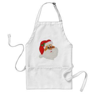 Vintage Styled Black Santa Cartoon Apron